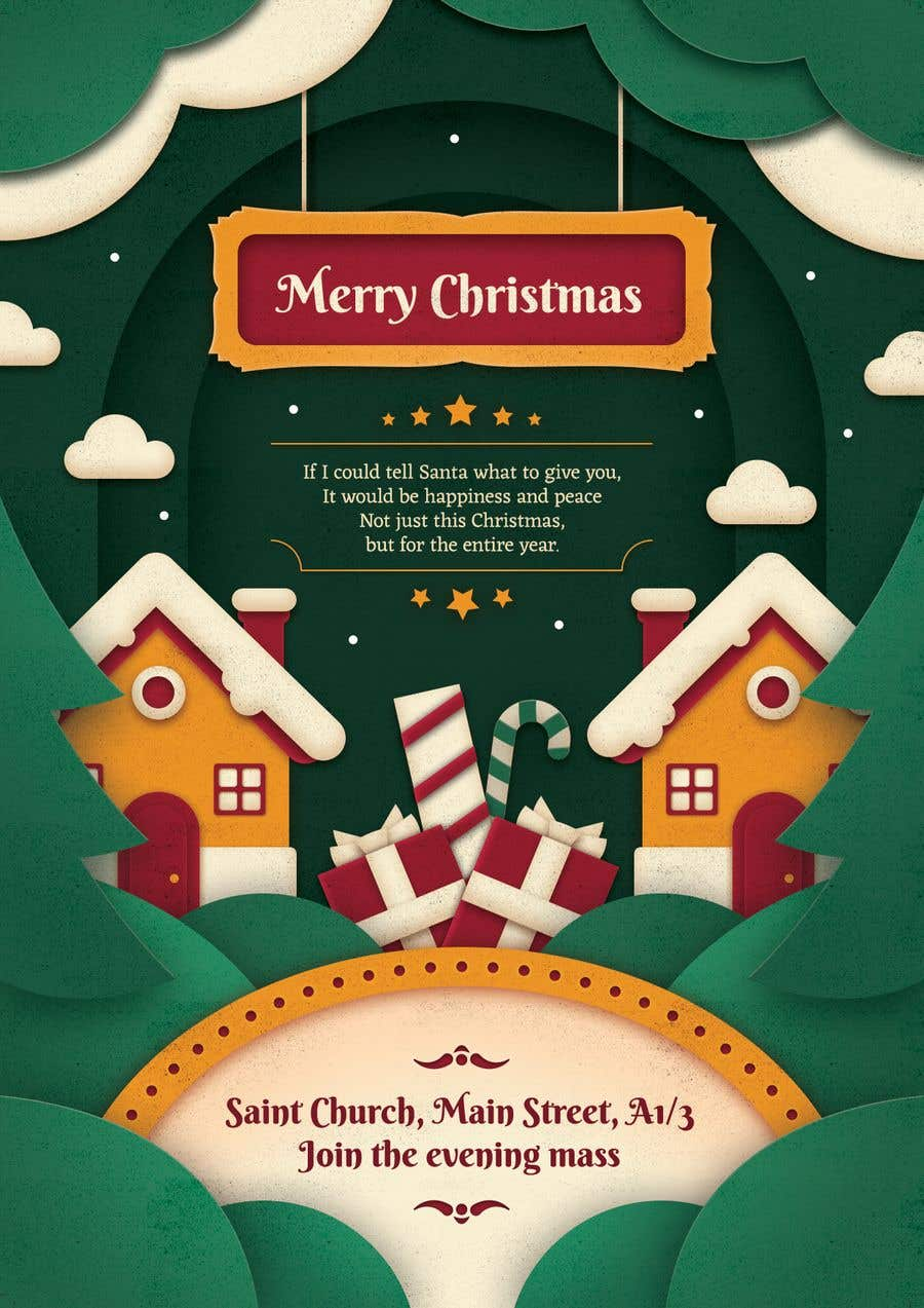 Entry #18 by fb59ae99fc326f2 for Design Christmas greeting card  The