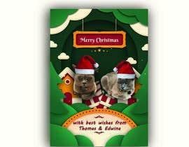 #47 untuk Digital Christmas card(s) with photos of my pet cats oleh Shopnil360