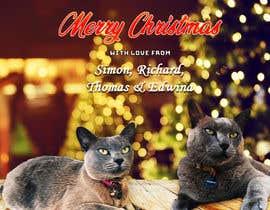 #39 untuk Digital Christmas card(s) with photos of my pet cats oleh aamirsohailoffic
