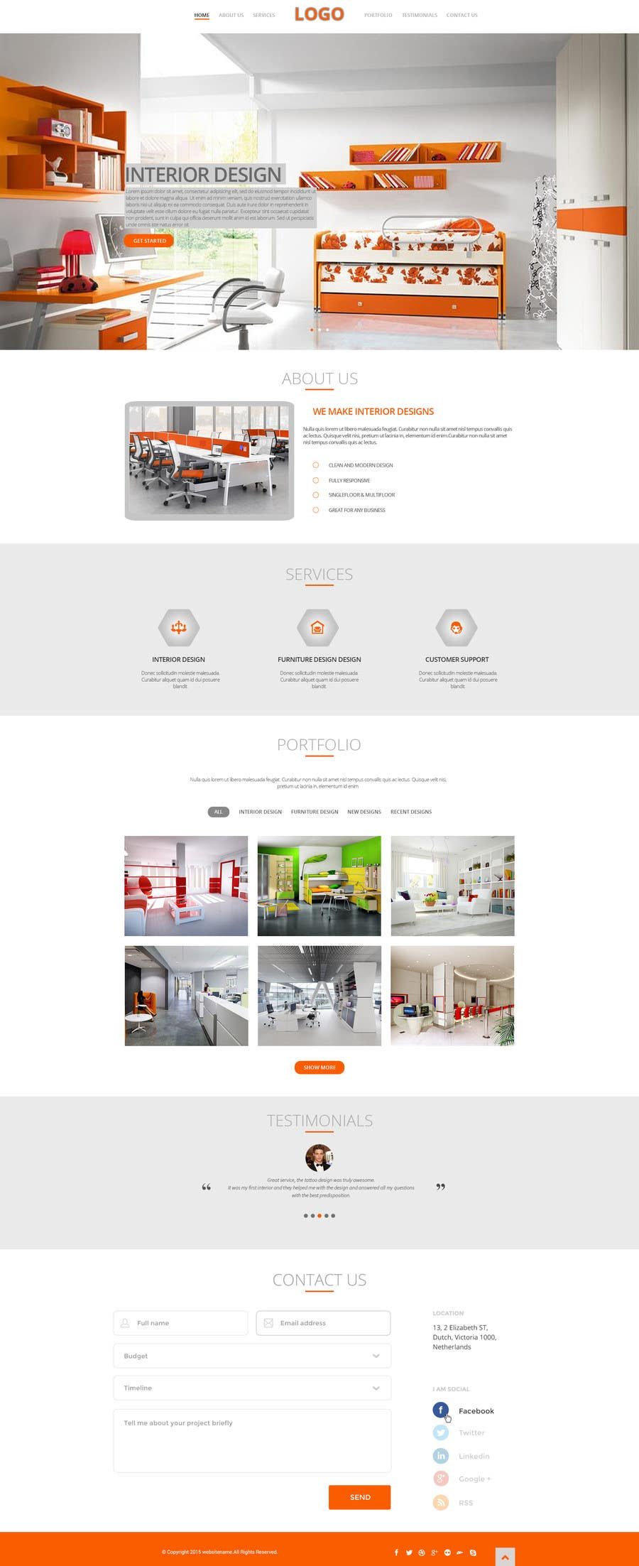 Entry 6 By Softlope535 For Design A Website Template For Interior