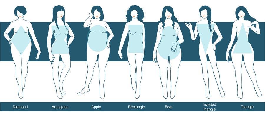 Penyertaan Peraduan #54 untuk Illustration Design for female body shapes/ types