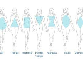 #7 para Illustration Design for female body shapes/ types de gex14286