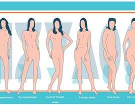 nº 80 pour Illustration Design for female body shapes/ types par zoombiemode