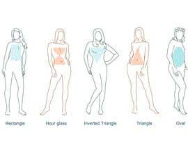 #17 para Illustration Design for female body shapes/ types de zoombiemode