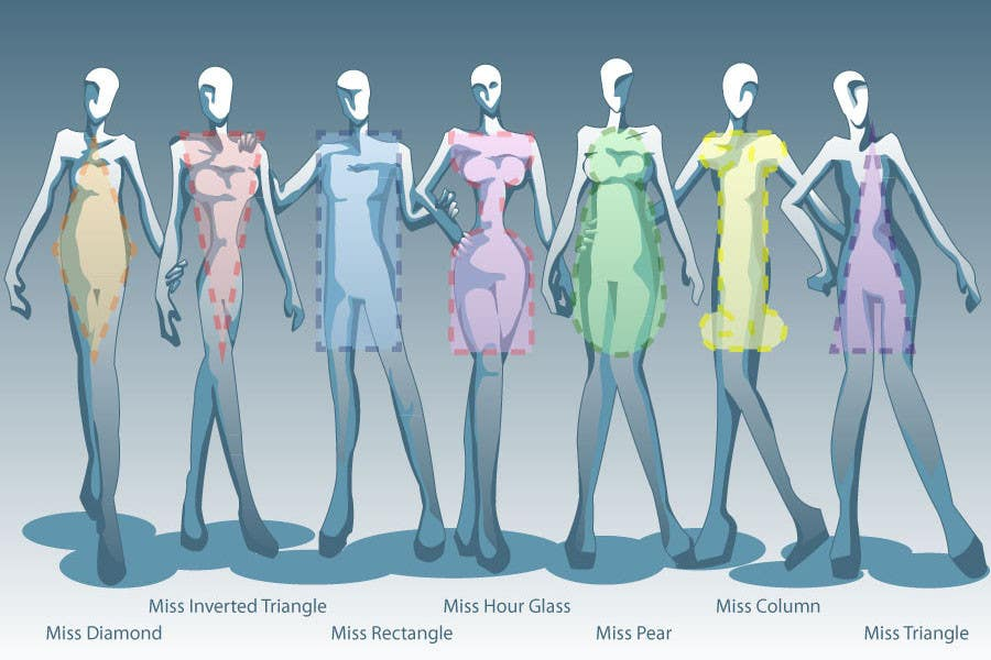 Penyertaan Peraduan #63 untuk Illustration Design for female body shapes/ types