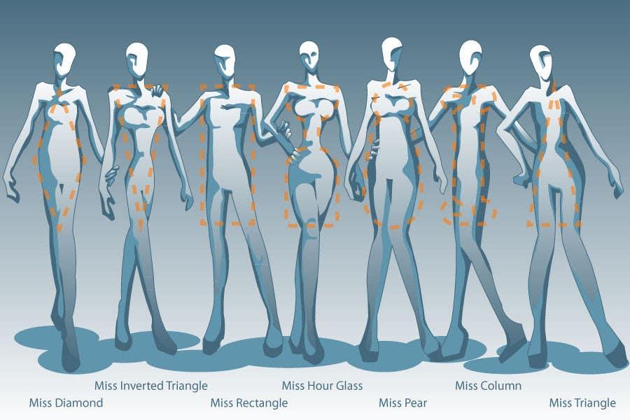 Penyertaan Peraduan #                                        59                                      untuk                                         Illustration Design for female body shapes/ types