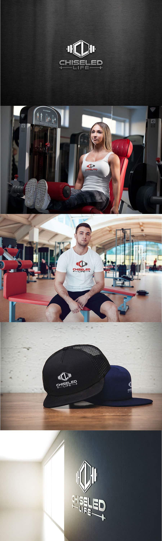 Kilpailutyö #41 kilpailussa Fitness brand logo design -  Chiseled life