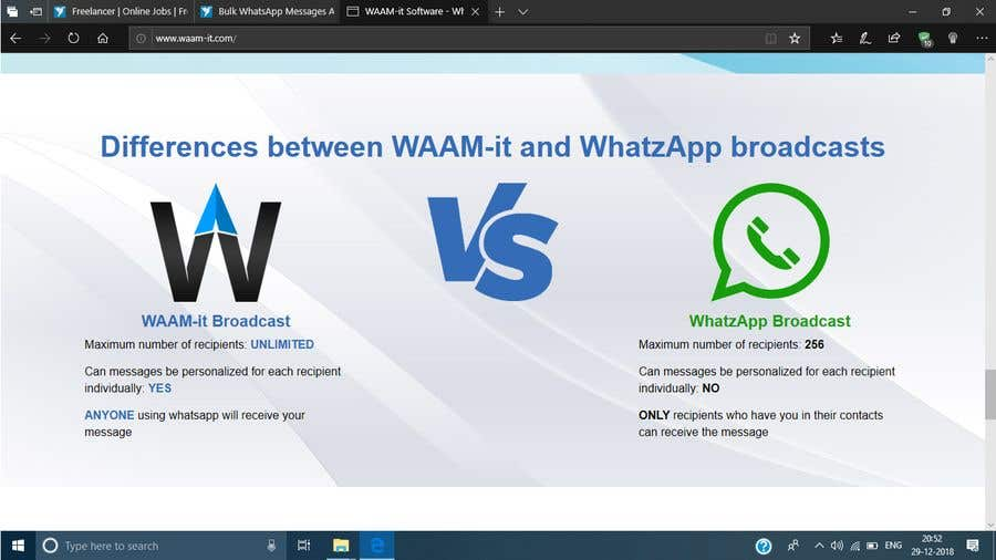 Entry #3 by VGC290894 for Bulk WhatsApp Messages App | Freelancer