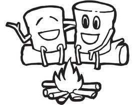 #85 for Drawing two marshmallows (as friends) around a campfire by reddmac
