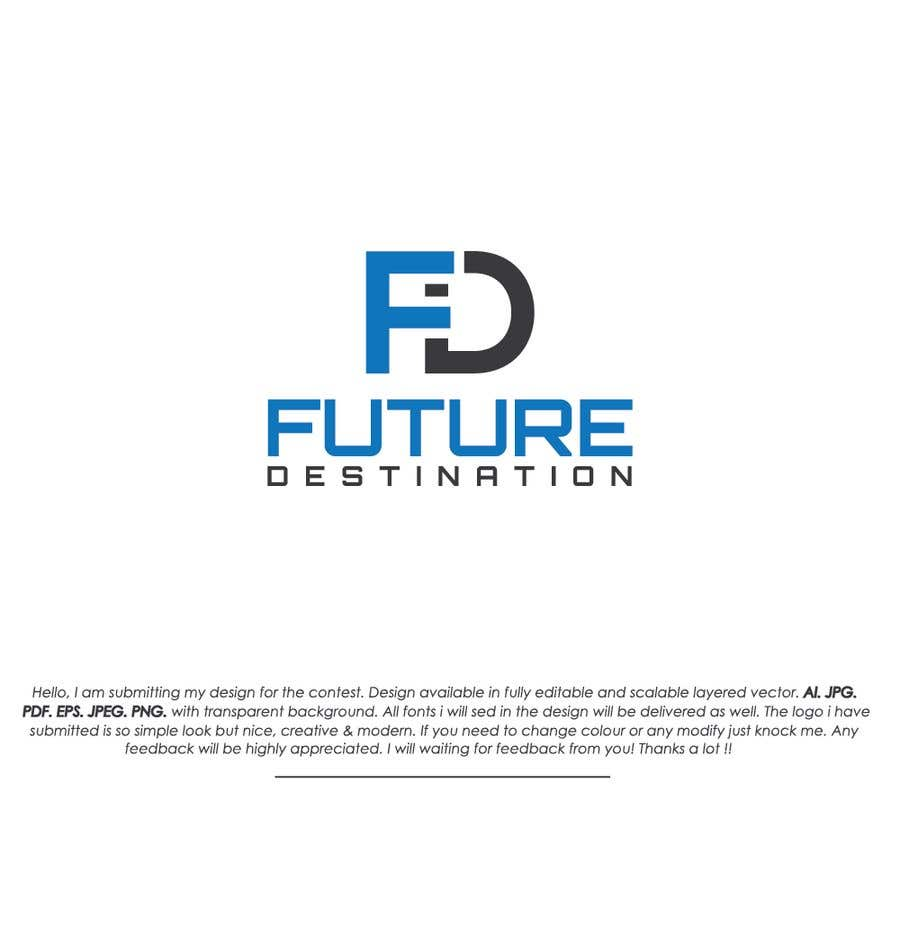 Contest Entry #4 for I want a logo designed. The name of my company is Future Destination. It is a company that for information technology provides development mobile and website applications and also i want to note that i want to use the logo with another projects