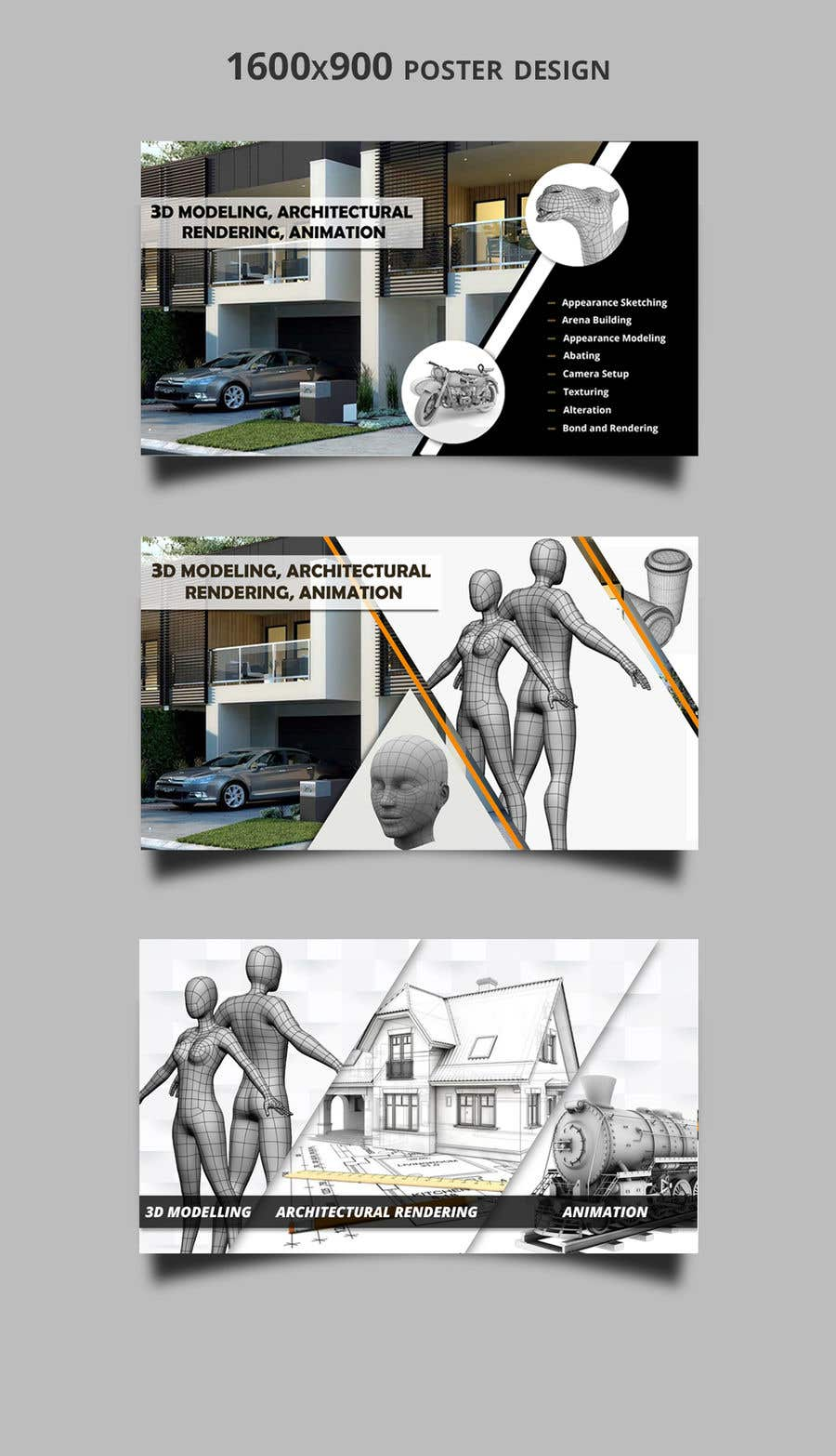 """Intrarea #17 pentru concursul """"1600x900 resoution graphic/poster design- 3D Theme"""""""