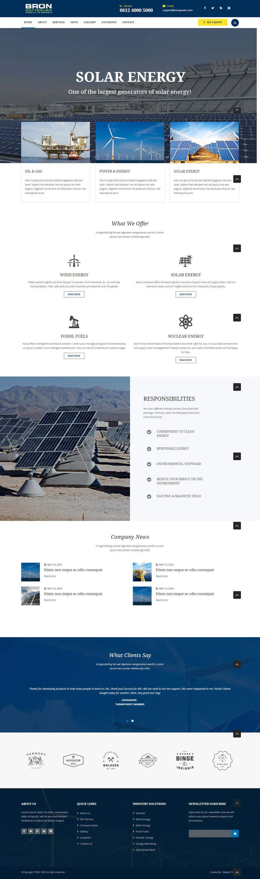 Penyertaan Peraduan #50 untuk wordpress theme design for battery and lighting subject
