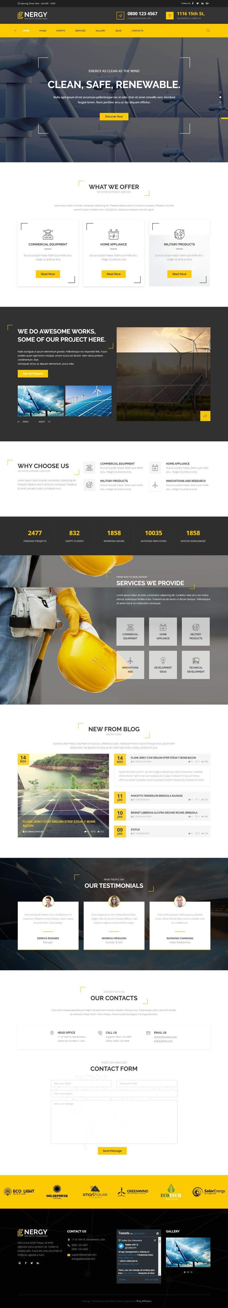 Penyertaan Peraduan #1 untuk wordpress theme design for battery and lighting subject