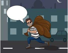 #7 для cartoon  image of thief wearing eyemask with many bags on his shoulder от kevingitau