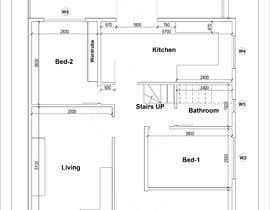 Nro 16 kilpailuun HOUSE PLAN DRAWN IN CAD käyttäjältä Paul7127