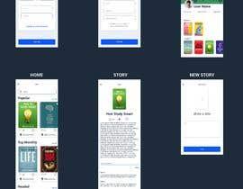 Nro 24 kilpailuun Create mockups for Story Telling Mobile App käyttäjältä Fungo
