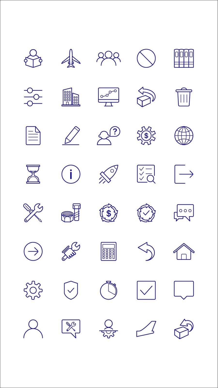 Kilpailutyö #10 kilpailussa Build me a new suite of Icons