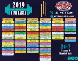 Nro 8 kilpailuun Re design timetable graphics käyttäjältä BreakingBrand