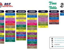 Nro 2 kilpailuun Re design timetable graphics käyttäjältä Mdnaimurrahman