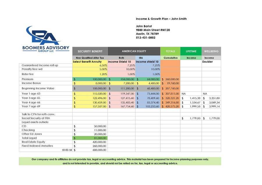 Contest Entry #123 for Redesign an Excel Spreadsheet