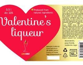 colorsitcentre tarafından Bottle label for Valentines liquer için no 20