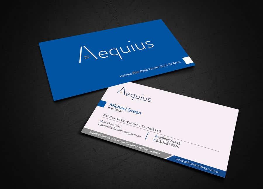 Penyertaan Peraduan #560 untuk Business Card Design