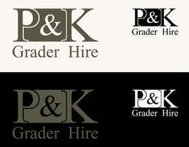 #2 для Logo Design for P & K Grader Hire от CGSaba