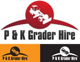 nº 7 pour Logo Design for P & K Grader Hire par zedworks