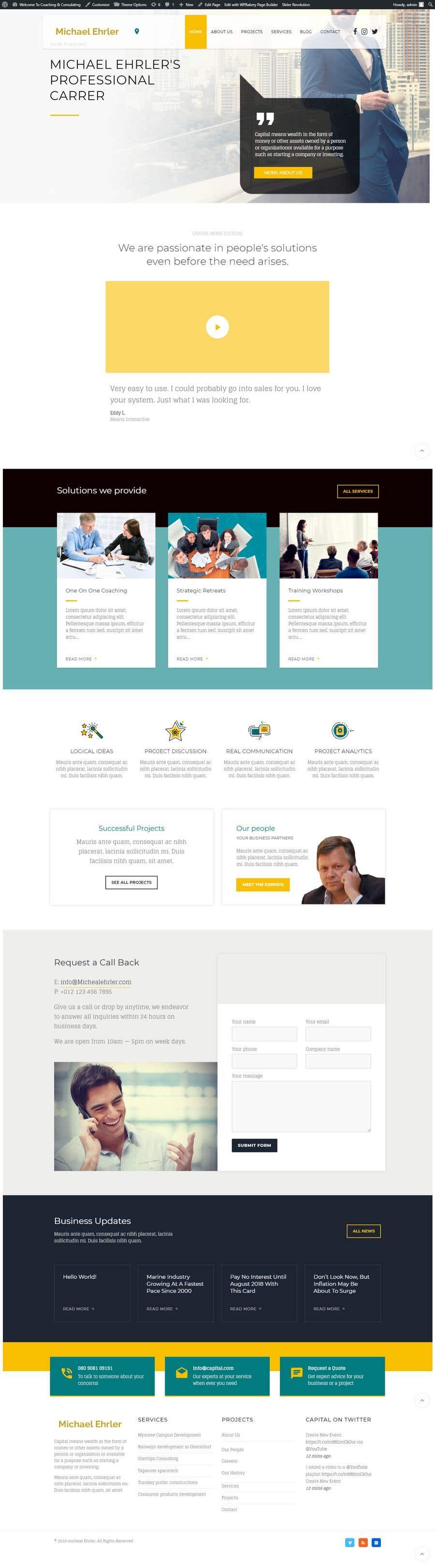 Kilpailutyö #30 kilpailussa Build a website, Much of the work is done.