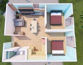 gabyxx1996님에 의한 Design a layout of a two bedroom flat, including furniture.을(를) 위한 #6