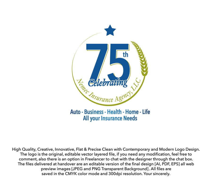 Contest Entry #28 for Revamped Logo Design - Celebrating our 75th Anniversary