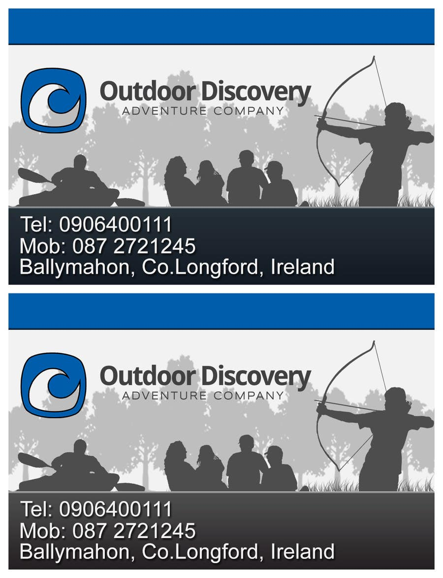Contest Entry #                                        26                                      for                                         Business Card Design for Outdoor Discovery Adventure Company