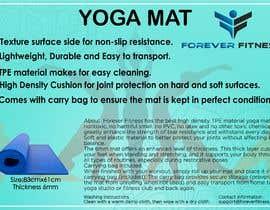 Nro 1 kilpailuun product label design for a yoga mat käyttäjältä khushalichavda
