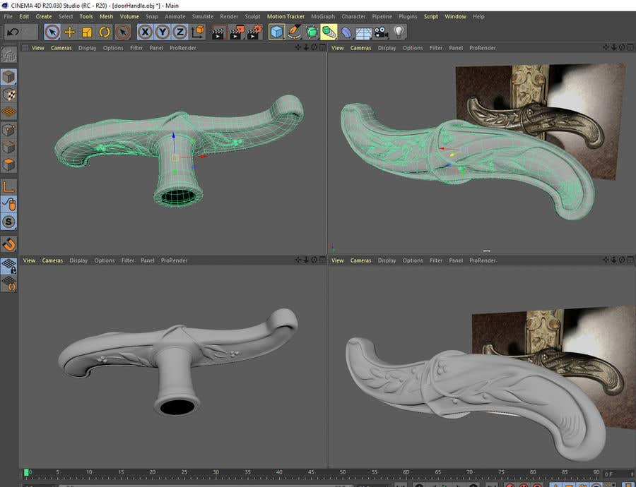 Entry #11 by voxelpoint for Modelling a 3D-Door Handle in
