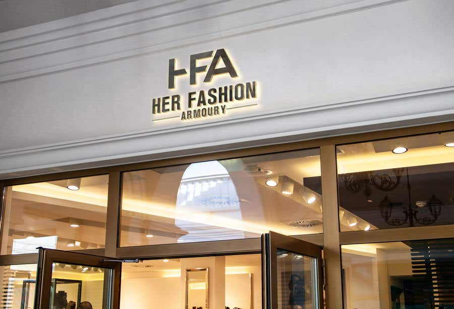 Konkurrenceindlæg #16 for 'Her Fashion Armoury' or the Acronym 'HFA' in a logo. No bright colours. Classic design. Will be for an online female clothing rental business