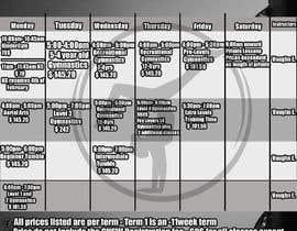 Nro 7 kilpailuun Design a timetable käyttäjältä IPucket