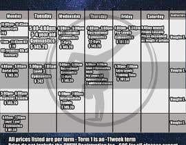 Nro 19 kilpailuun Design a timetable käyttäjältä IPucket