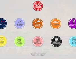 #7 for TACO BURGER ICONS by sakibhossain72