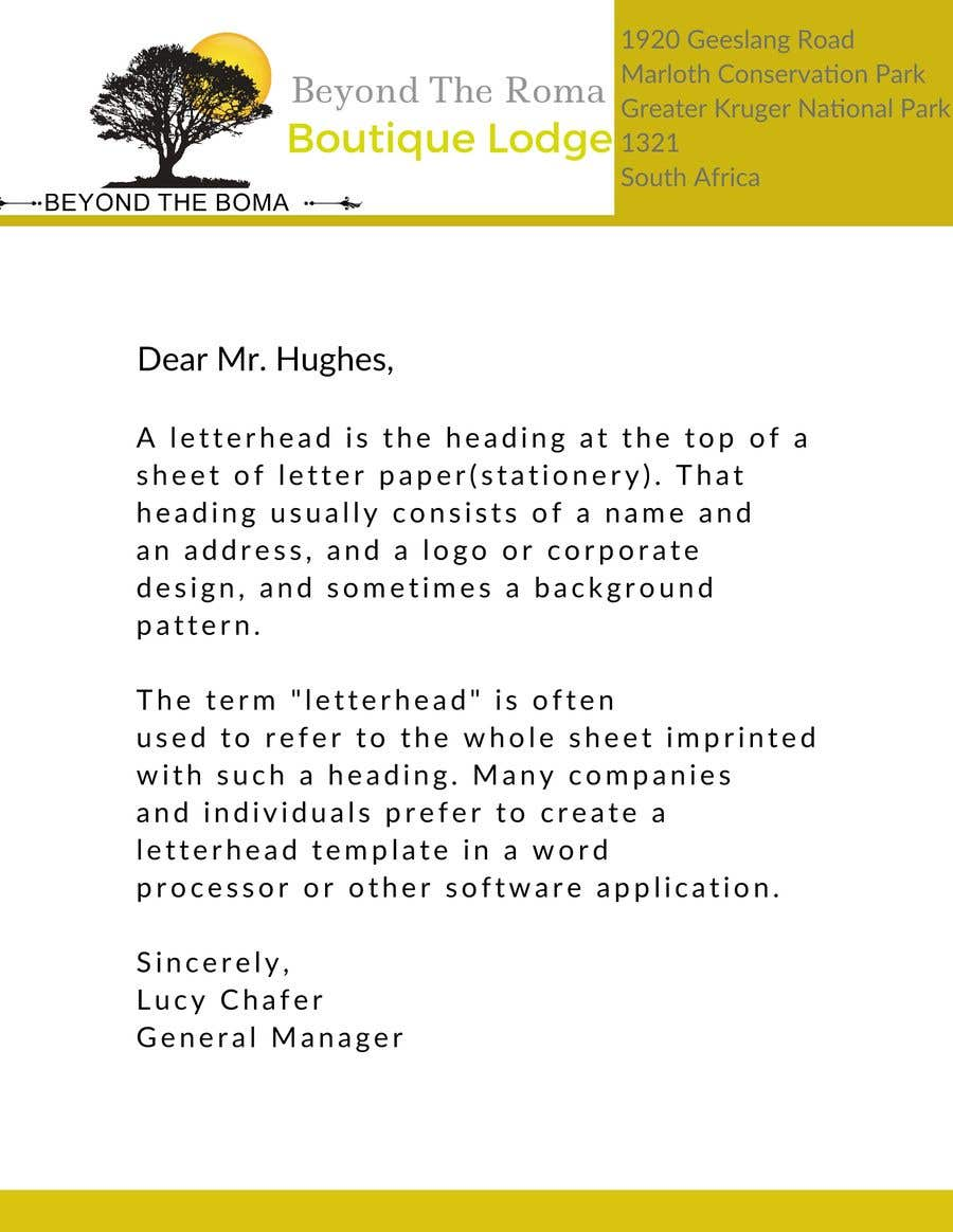 Kilpailutyö #2 kilpailussa Letterhead design