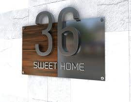 nº 205 pour Design a House number plate from stainless steel and glass par dydcolorart