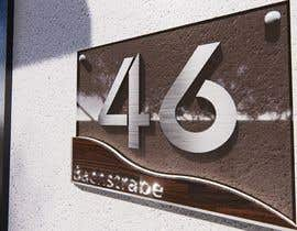 nº 283 pour Design a House number plate from stainless steel and glass par jairandresrmz