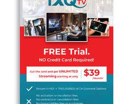 "#52 untuk Design a single sided 4"" X 6"" Flyer for TV Streaming Service oleh darbarg"