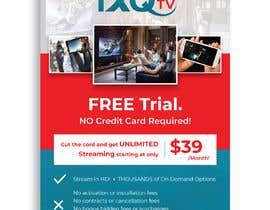 "darbarg tarafından Design a single sided 4"" X 6"" Flyer for TV Streaming Service için no 52"