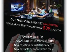 "Kajol2322 tarafından Design a single sided 4"" X 6"" Flyer for TV Streaming Service için no 45"