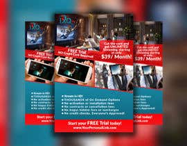 "#29 untuk Design a single sided 4"" X 6"" Flyer for TV Streaming Service oleh saifuldic"