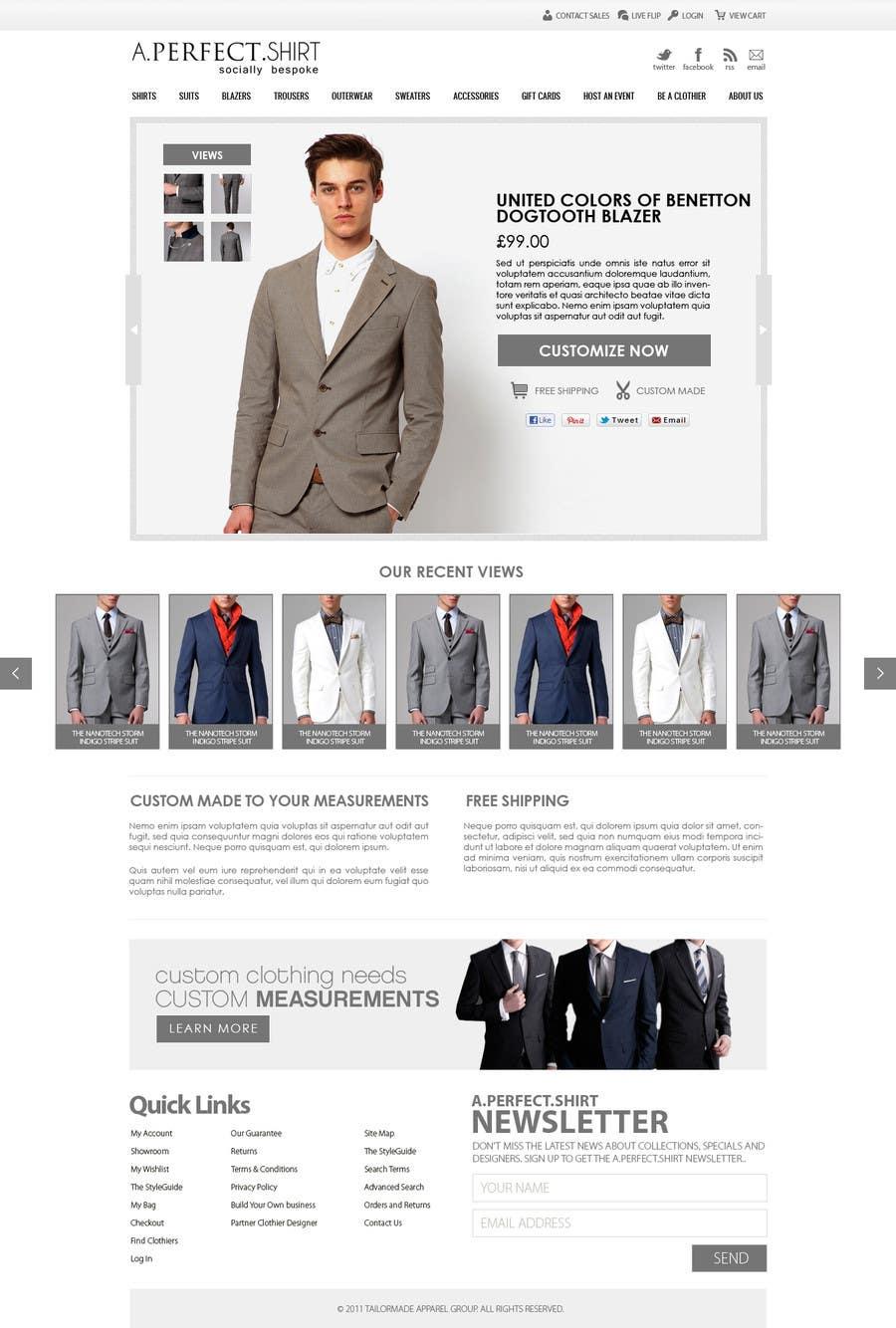 Конкурсная заявка №14 для Website Design for Magento Ecommerce Site - Mens custom clothing