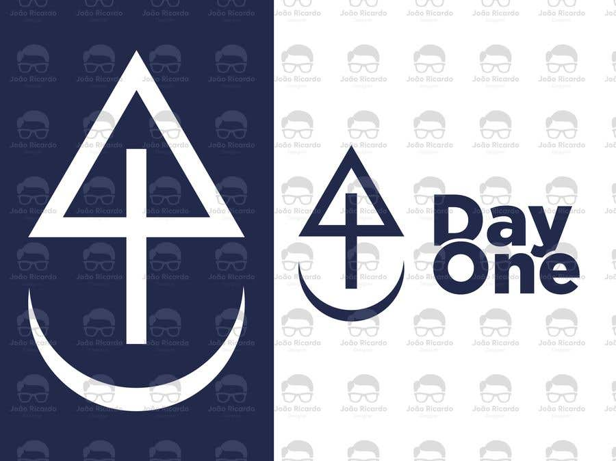 Penyertaan Peraduan #3 untuk Logo. Company name is Day One. Logo is combo of the major religious symbols. Cross. Star of David. And moon/Muslim.  With the combo it appears to form a boat. The boat is a symbol of unity and world salvation and peace and harmony.