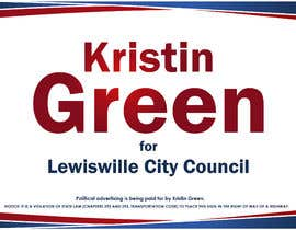 #44 for Campaign Sign Design by MVgdesign