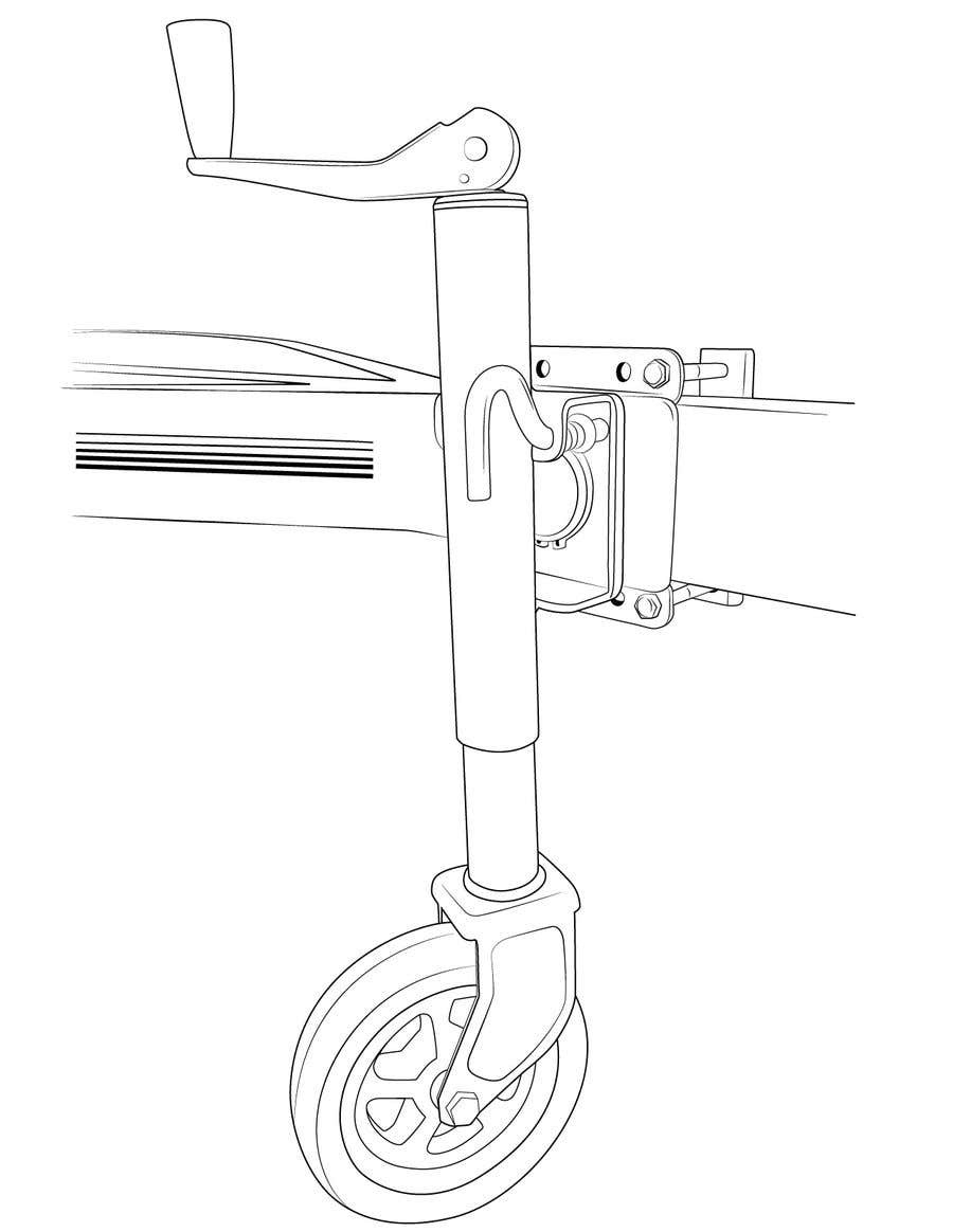 Contest Entry #21 for Line Drawing of Jockey Wheel