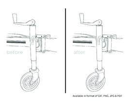 #27 za Line Drawing of Jockey Wheel od Hannahyan